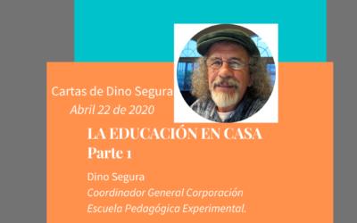 Cartas de Dino Segura: LA EDUCACIÓN EN CASA. Parte 1